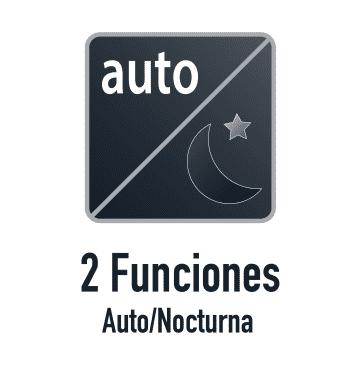 Función auto y función nocturna.