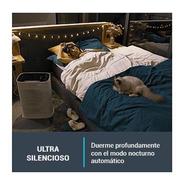 Duerme con tranquilidad y profundamente con el modo nocturno automático.