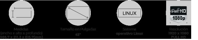 Medidas atributos Kalley Serie T 32 pulgadas